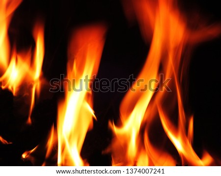 Blurred natural flame flame surface for flame background #1374007241