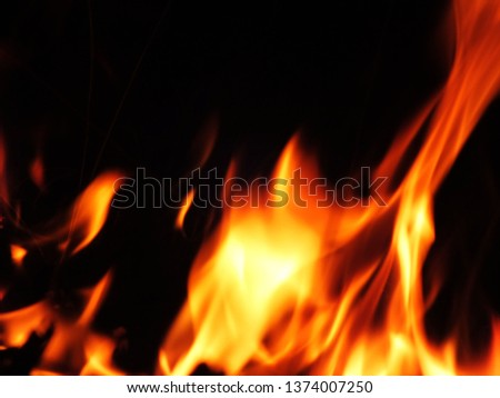 Blurred natural flame flame surface for flame background #1374007250