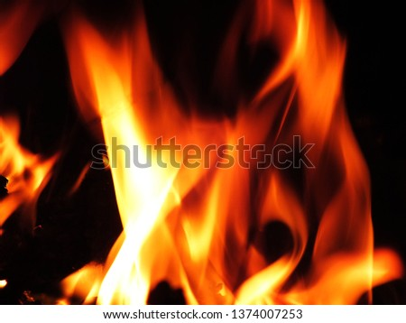 Blurred natural flame flame surface for flame background #1374007253