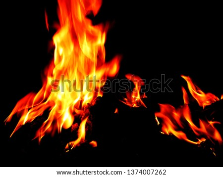 Blurred natural flame flame surface for flame background #1374007262
