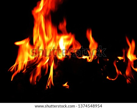 Blurred natural flame flame surface for flame background #1374548954