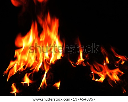 Blurred natural flame flame surface for flame background #1374548957