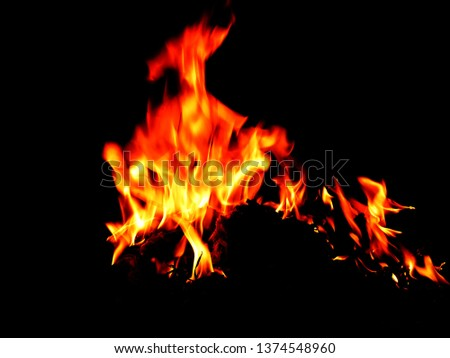 Blurred natural flame flame surface for flame background #1374548960