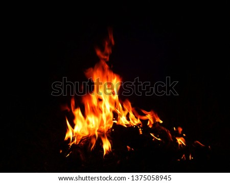 Blurred natural flame flame surface for flame background #1375058945