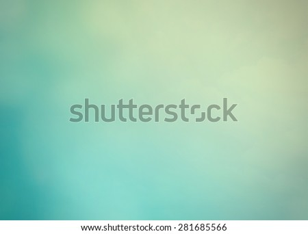 Blurred nature background of clouds on sky in cool vintage color