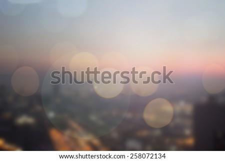 Blurred night city background. #258072134