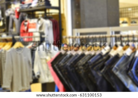 Blurred of clothing department #631100153