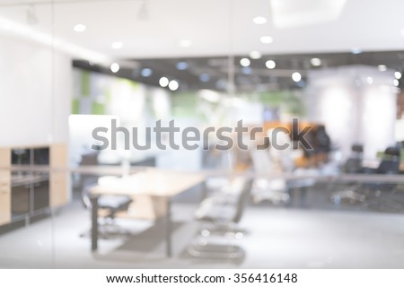 Blurred of office - ideal for presentation background.