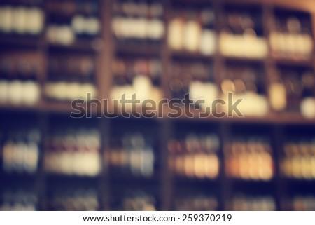 Blurred of wine bottles #259370219