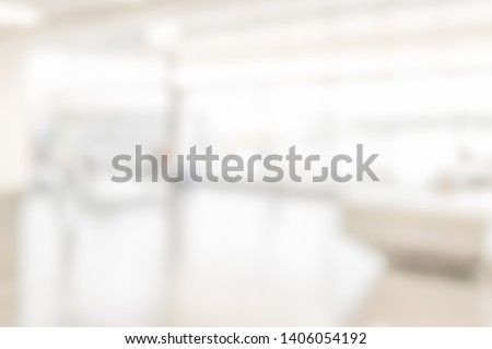 BLURRED OFFICE BACKGROUND, LIGHT BUSINESS HALL, MODERN INTERIOR