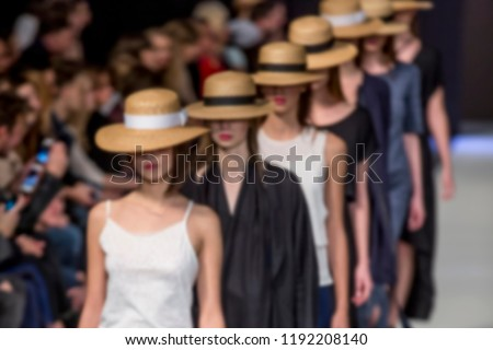 Blurred on purpose Fashion Show, Catwalk, Runway Event themed photo. #1192208140
