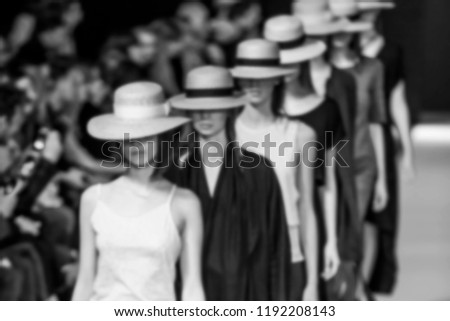 Blurred on purpose Fashion Show, Catwalk, Runway Event themed photo. #1192208143