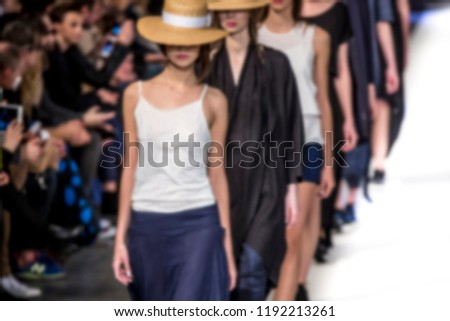 Blurred on purpose Fashion Show, Catwalk, Runway Event themed photo. #1192213261