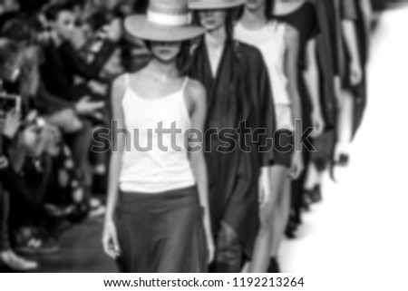 Blurred on purpose Fashion Show, Catwalk, Runway Event themed photo. #1192213264