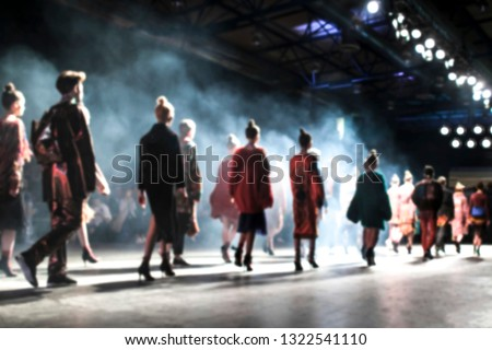 Blurred on purpose Fashion Show, Catwalk, Runway Event themed photo. Fashion week.