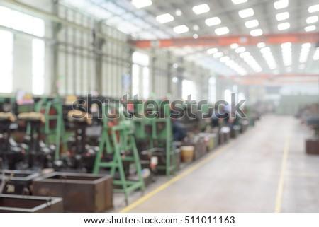 Blurred or defocused manufacturing factory #511011163
