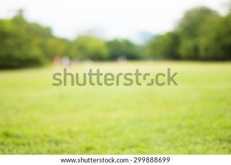 Blurred park, natural background - Shutterstock ID 299888699