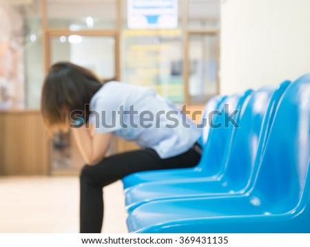 Blurred Patients In Doctors Waiting Room #369431135