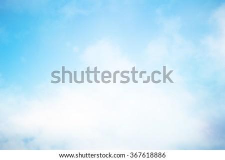 blurred peaceful natural blue sky clouds landscape background #367618886