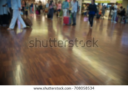 blurred people on the airport - Shutterstock ID 708058534