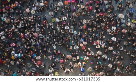 Shutterstock Blurred People View from Above