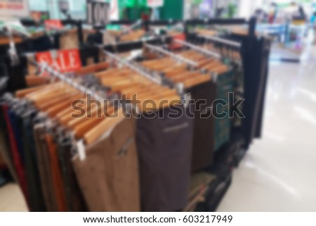 blurred photo, Blurry image,inside of the clothes shop,background #603217949