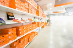 Blurred photo of Sport Shoes Store.