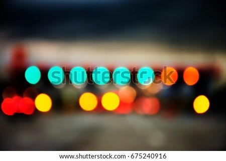 Blurred photos on high ways - Shutterstock ID 675240916