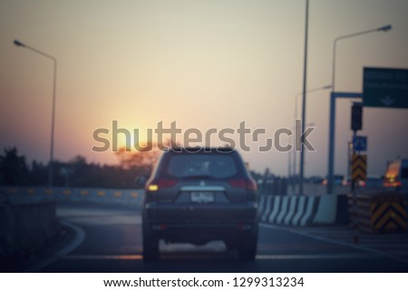 blurred picture for go home background at Bangkok,Thailand #1299313234