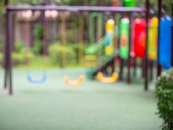 Blurred play ground in the garden