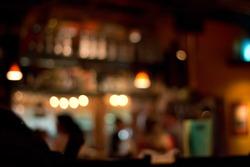 blurred pub background