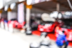 blurred racing auto motor racetrack speedway garage - blur background
