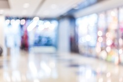 Blurred shopping mall background