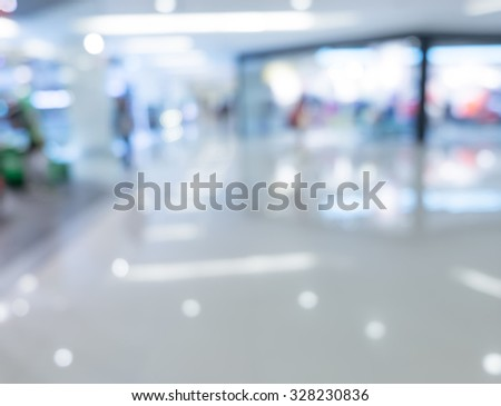 Blurred Shopping mall Interior background