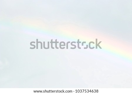blurred sky and rainbow soft, blurred soft rainbow on sky pastel color background, nature rainbow sky wallpaper
