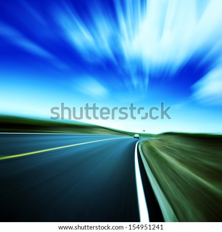 Blurred Sky Highway