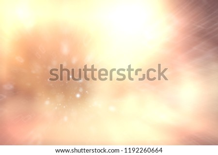 blurred snow / winter abstract background, snowflakes on abstract blurred glowing leaf background #1192260664