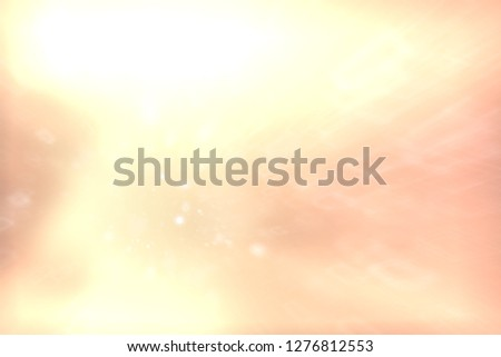 blurred snow / winter abstract background, snowflakes on abstract blurred glowing leaf background #1276812553