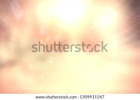 blurred snow / winter abstract background, snowflakes on abstract blurred glowing leaf background #1309911547