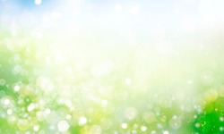 Blurred Spring background with bokeh