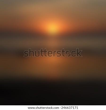 Blurred Sunrise Background,Early Morning Light, The Natural Lighting Phenomena.