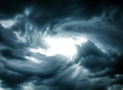 Blurred Swirl in the Dark Storm Clouds
