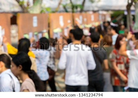 Blurred Thais flock to early voting first election since 2014 coup. #1341234794