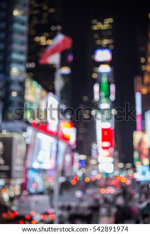 blurred time square new york 542891974
