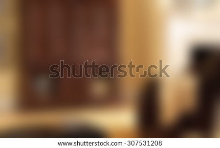 Blurred traditional living room/sitting room background