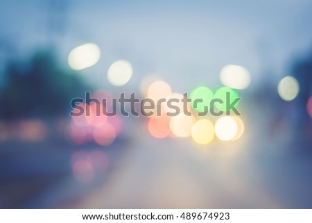 blurred traffic lights in urban ...