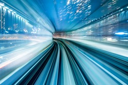 Blurred tunnel vision as concept for modern technology