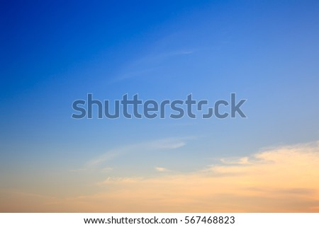 Blurred twilight cloud sky for background #567468823