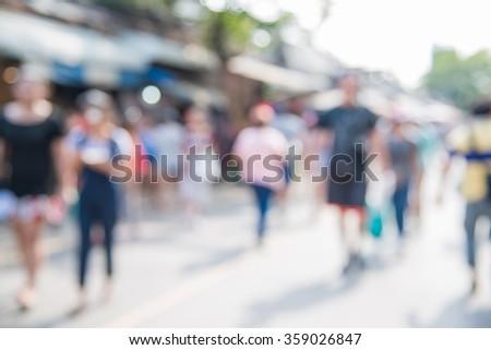 Blurred unidentified tourist shops at Chatuchak Weekend Market or JJ Market in bangkok Thailand #359026847