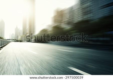 Blurred urban road in modern city #297500039